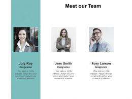 Meet Our Team Communication A48 Ppt Powerpoint Presentation Pictures Slides