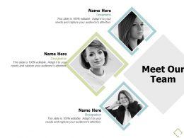 Meet Our Team Communication A686 Ppt Powerpoint Presentation Outline Design Templates