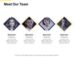 Meet Our Team Communication B109 Ppt Powerpoint Presentation File Slides