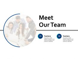 Meet Our Team Communication B213 Ppt Powerpoint Presentation File Display