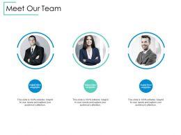 Meet Our Team Communication B230 Ppt Powerpoint Presentation File Clipart