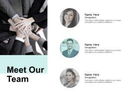 Meet Our Team Communication B292 Ppt Powerpoint Presentation File Designs