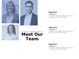 Meet Our Team Communication C960 Ppt Powerpoint Presentation File Slides