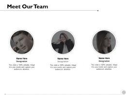 Meet Our Team Communication Coordination K247 Ppt Powerpoint Presentation Clipart