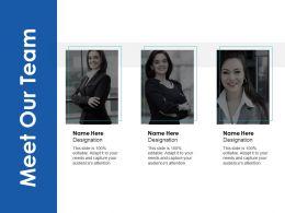 Meet Our Team Communication D31 Ppt Powerpoint Presentation Slides Deck