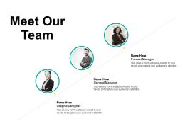 Meet Our Team Communication F227 Ppt Powerpoint Presentation Pictures Outline