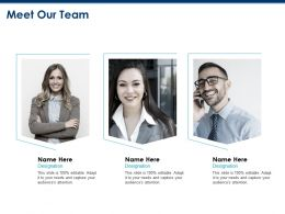 Meet Our Team Communication F521 Ppt Powerpoint Presentation Outline Design Ideas
