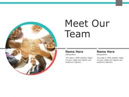 Meet Our Team Communication F687 Ppt Powerpoint Presentation Ideas Portrait
