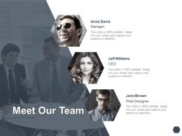 Meet Our Team Communication I375 Ppt Powerpoint Presentation Templates