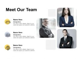 Meet Our Team Communication Introduction C110 Ppt Powerpoint Presentation Infographics Aids