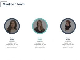 Meet Our Team Communication Introduction C245 Ppt Powerpoint Presentation Gallery Visual Aids