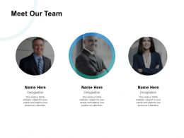 Meet Our Team Communication Introduction D251 Ppt Powerpoint Presentation Gallery Maker