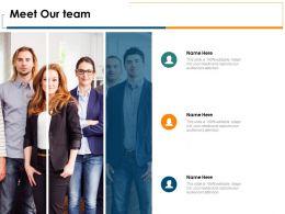 Meet Our Team Communication Introduction D342 Ppt Powerpoint Presentation