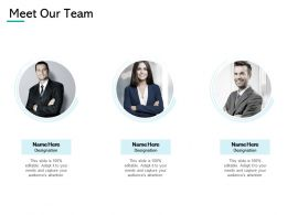 Meet Our Team Communication Introduction Ppt Powerpoint Presentation Gallery Show