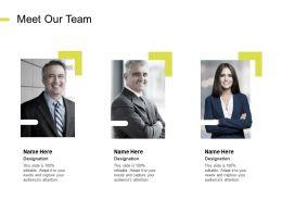 Meet Our Team Communication K104 Ppt Powerpoint Presentation File Portrait
