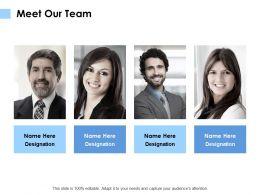 Meet Our Team Communication K110 Ppt Powerpoint Presentation Diagram Lists