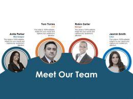 Meet Our Team Communication L133 Ppt Powerpoint Presentation Show