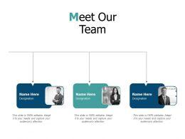 Meet Our Team Communication L465 Ppt Powerpoint Presentation Model