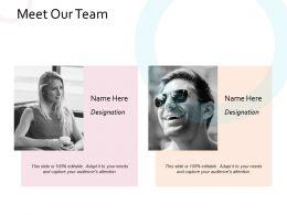 Meet Our Team Communication Management Planning Business