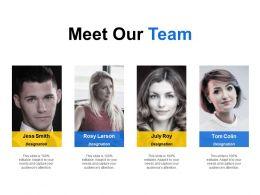 Meet Our Team Communication Planning C168 Ppt Powerpoint Presentation File Master Slide