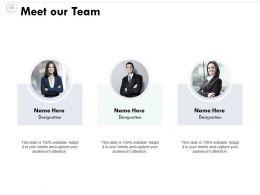 Meet Our Team Communication Planning C271 Ppt Powerpoint Presentation File Brochure