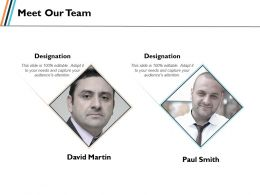 Meet Our Team Communication Planning Ppt Slides Graphics Template