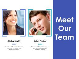 Meet Our Team Communication Ppt Inspiration Example Introduction