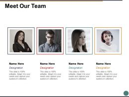 Meet Our Team Communication Ppt Powerpoint Presentation File Background Images