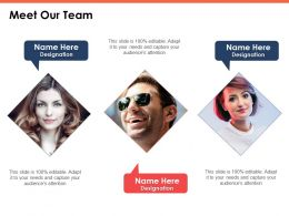 Meet Our Team Communication Ppt Powerpoint Presentation Model Slideshow
