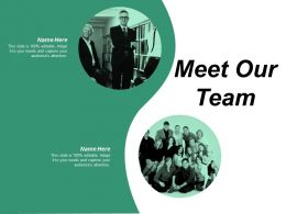 Meet Our Team Communication Ppt Powerpoint Presentation Professional Ideas