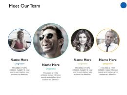 Meet Our Team Communication Ppt Professional Example Introduction