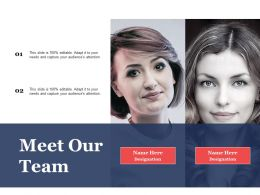 Meet Our Team Communication Process Ppt File Background Images