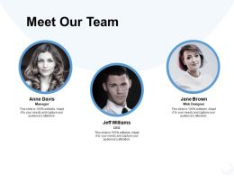 Meet Our Team Coordination K308 Ppt Powerpoint Presentation Tips