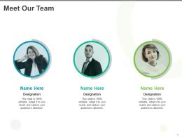 Meet Our Team Designation K336 Ppt Powerpoint Presentation Show