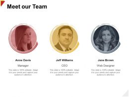 Meet Our Team Designer H105 Ppt Powerpoint Presentation Diagram Images