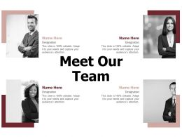Meet Our Team H139 Ppt Powerpoint Presentation Professional Guidelines