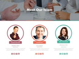 Meet Our Team Infographics Diagram Powerpoint Slides