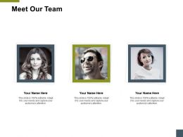 Meet Our Team Introduction A180 Ppt Powerpoint Presentation Model Ideas