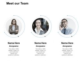 Meet Our Team Introduction And Communication F54 Powerpoint Presentation Slides