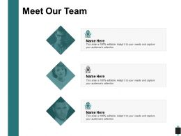 Meet Our Team Introduction C203 Ppt Powerpoint Presentation Outline Infographic Template