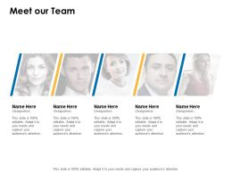 Meet Our Team Introduction Communication C358 Ppt Powerpoint Presentation Show