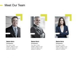 Meet Our Team Introduction Communication E268 Ppt Powerpoint Presentation Objects