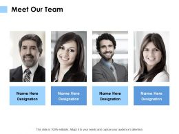 Meet Our Team Introduction Communication E291 Ppt Powerpoint Presentation Graphics
