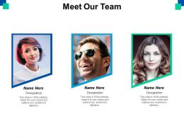 Meet Our Team Introduction Communication Ppt Powerpoint Presentation File Background Images