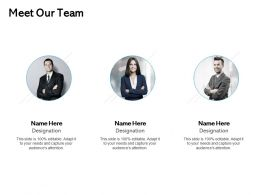 Meet Our Team Introduction F223 Ppt Powerpoint Presentation Professional Topics