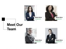 Meet Our Team Introduction F239 Ppt Powerpoint Presentation Professional Visual Aids