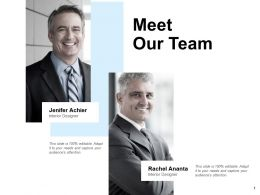 Meet Our Team Introduction F672 Ppt Powerpoint Presentation Portfolio Topics