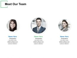 Meet Our Team Introduction Ppt Powerpoint Presentation Gallery Deck