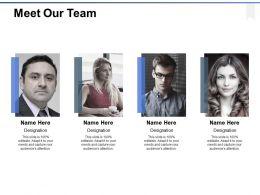Meet Our Team Introduction Ppt Powerpoint Presentation Gallery Portfolio