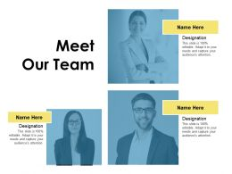 Meet Our Team Introduction Ppt Powerpoint Presentation Icon Model